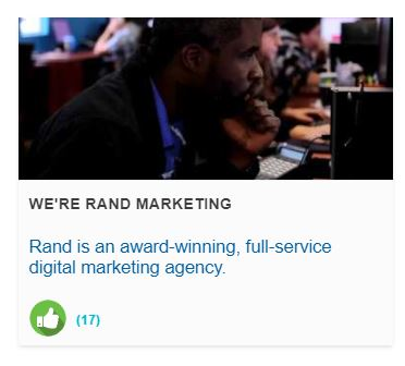 Discover Rand Marketing and watch their video submission for our Online Selling Science Fair!