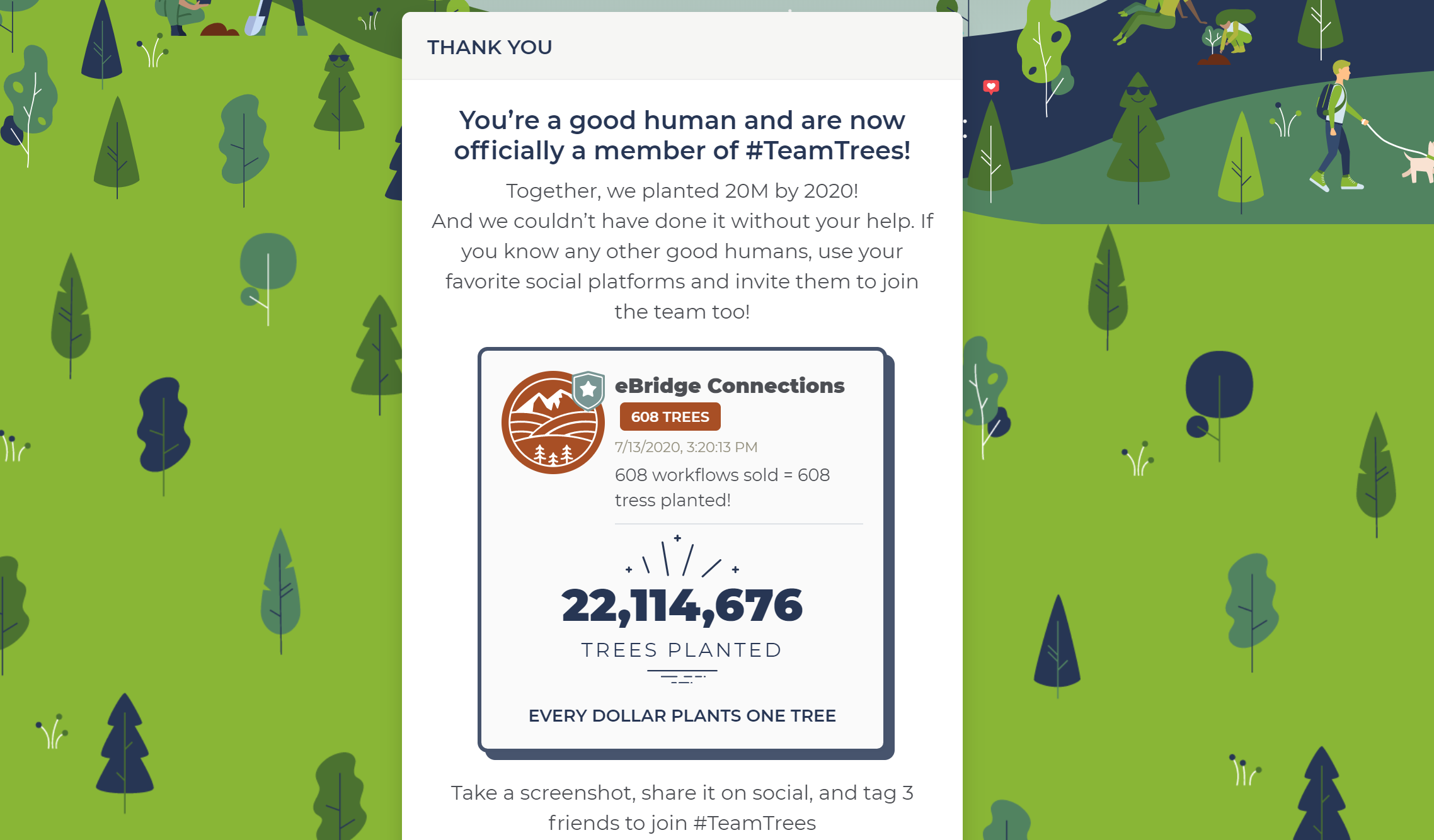 #TeamTrees Sustainability Initative