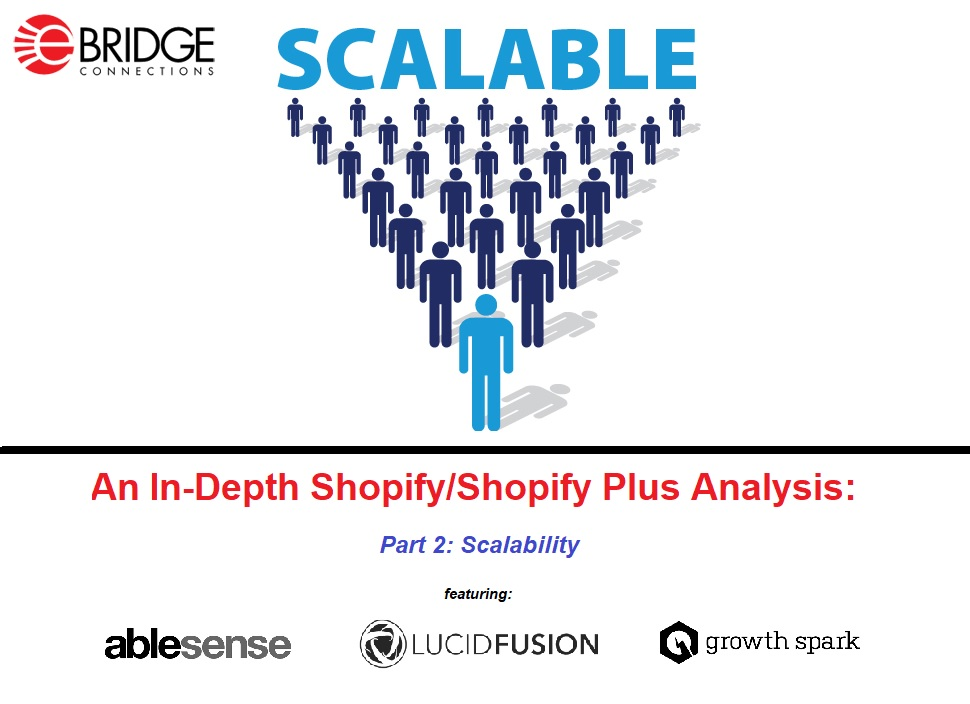 Shopify/Shopify Plus analysis through the eyes of AbleSense, Lucid Fusion, and Growth Spark. Part 2: Scalability